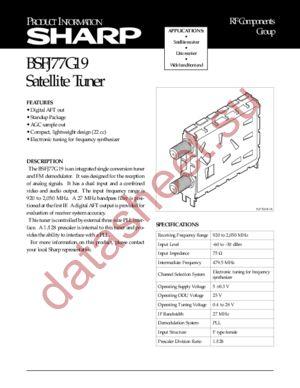 BSFJ77G19 datasheet скачать даташит