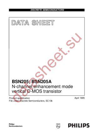 BSN205A datasheet скачать даташит