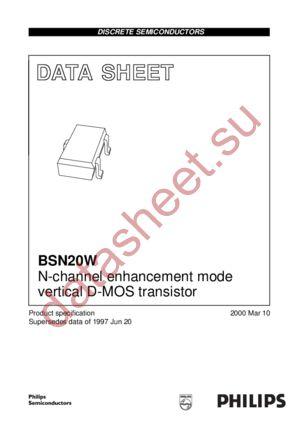 BSN20W datasheet скачать даташит