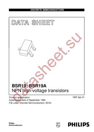 BSR19 datasheet скачать даташит