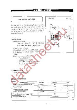 dbl1032d datasheet