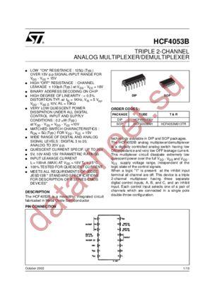 New original IC HCF4053BE HCF4053 DIP-16 Integrated Circuit