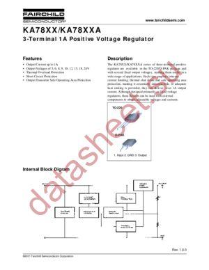 KA7805A DATASHEET PDF