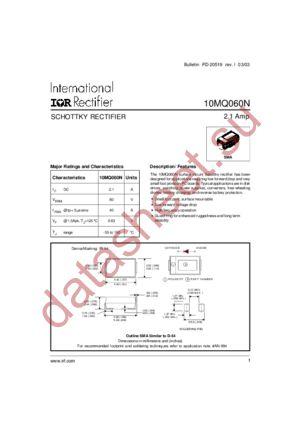 10mq060n vishay semiconductor diodes division | discrete.
