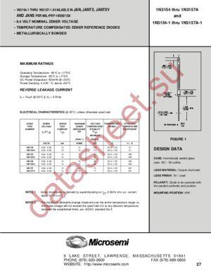 JANTX1N3156-1 datasheet скачать даташит