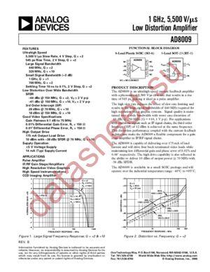 AD8009ART datasheet скачать даташит