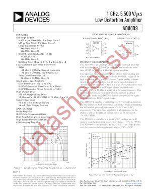 AD8009ARZ-REEL7 datasheet скачать даташит