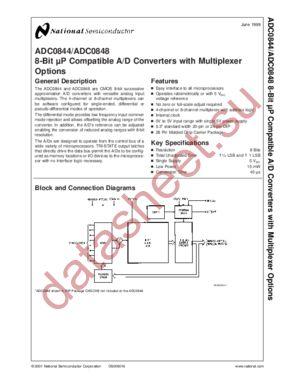 ADC0848CCVX datasheet скачать даташит