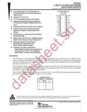 CDC2351DBLE datasheet скачать даташит