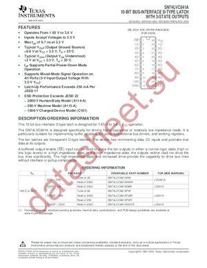 SN74LVC841ADBLE datasheet скачать даташит