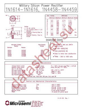 JANTX1N1615 datasheet скачать даташит