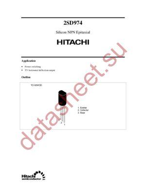 2SD974 datasheet скачать даташит