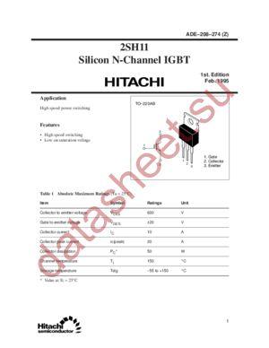 2SH11 datasheet скачать даташит