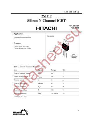 2SH12 datasheet скачать даташит