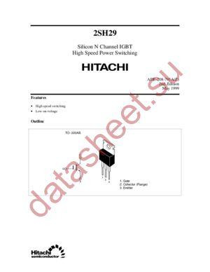 2SH29 datasheet скачать даташит