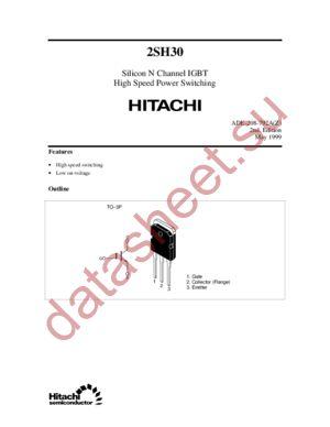 2SH30 datasheet скачать даташит