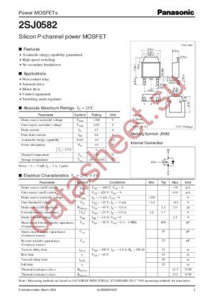 2SJ0582 datasheet скачать даташит