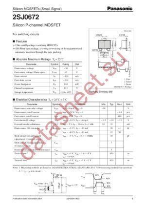 2SJ0672 datasheet скачать даташит