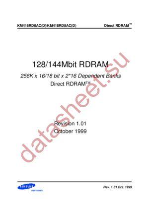 KM418RD4D datasheet скачать даташит