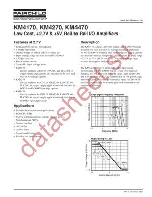 KM4470IP14TR3 datasheet скачать даташит