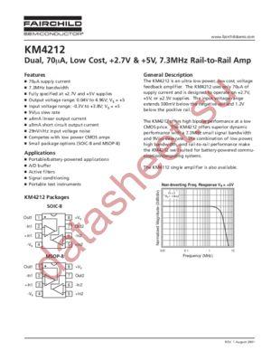 KM4212IC8 datasheet скачать даташит