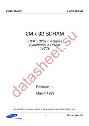 KM432S2030CT-G8 datasheet скачать даташит