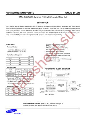 KM48V8104B datasheet скачать даташит