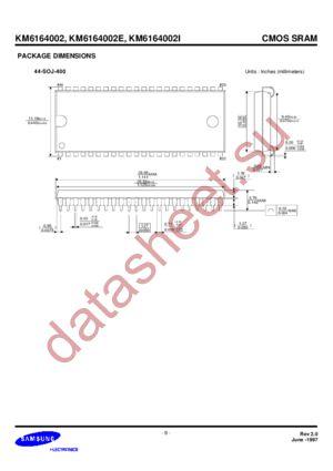 KM6164002I datasheet скачать даташит