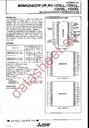 M5M5256CRV-15VLL datasheet скачать даташит