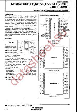 M5M5256CP-10XL datasheet скачать даташит
