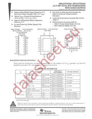 SN74LVTH245A datasheet скачать даташит