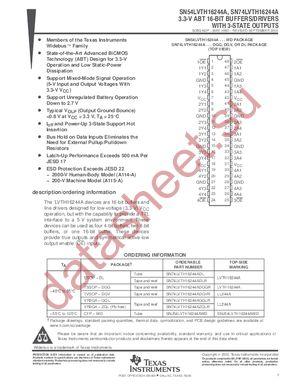 SN74LVTH16244A datasheet скачать даташит