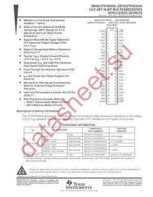 SN74LVTH16245A datasheet скачать даташит