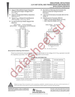 SN74LVTH646PWLE datasheet скачать даташит