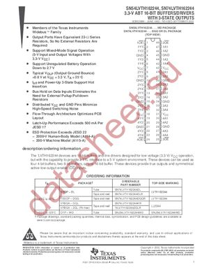 SN74LVTH162244 datasheet скачать даташит
