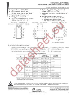 SN74LVC86A datasheet скачать даташит