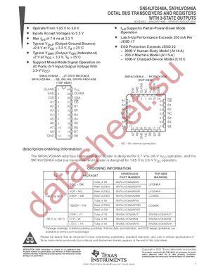 SN74LVC646APWLE datasheet скачать даташит