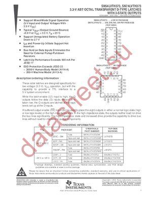 SN74LVTH373PWLE datasheet скачать даташит