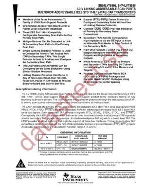 SN74LVT8986 datasheet скачать даташит