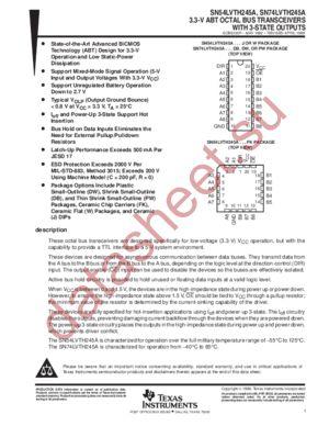 SN74LVTH245 datasheet скачать даташит