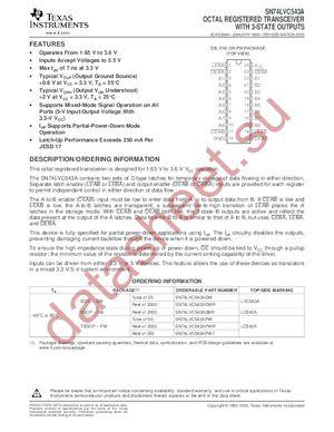 SN74LVC543APWLE datasheet скачать даташит