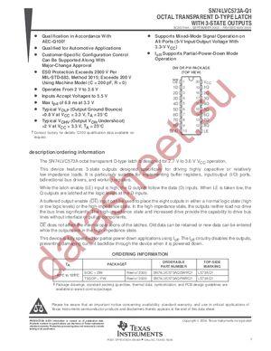 SN74LVC573APWLE datasheet скачать даташит