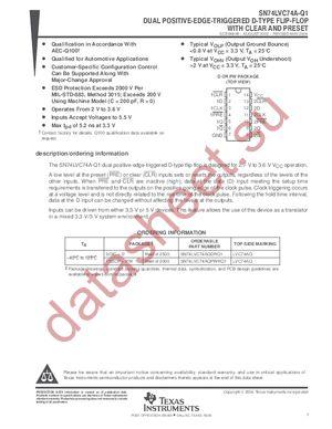 SN74LVC74A datasheet скачать даташит