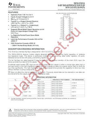 SN74LVC821ADBLE datasheet скачать даташит