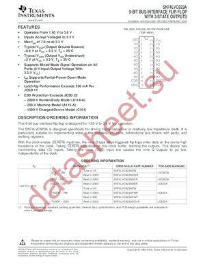SN74LVC823APWLE datasheet скачать даташит