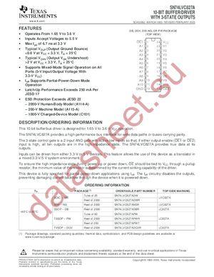SN74LVC827A datasheet скачать даташит
