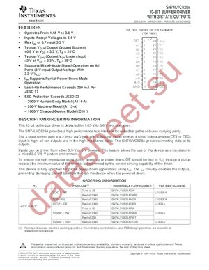 SN74LVC828APWLE datasheet скачать даташит