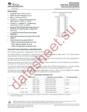 SN74LVC861APWLE datasheet скачать даташит