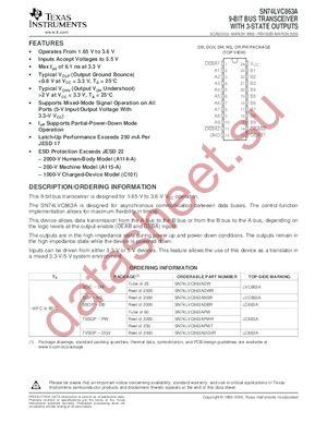 SN74LVC863A datasheet скачать даташит