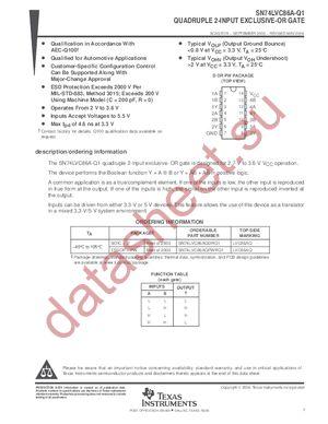 SN74LVC86APWLE datasheet скачать даташит